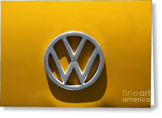 Sophie Vigneault. Greeting Cards - Volkswagen crest Greeting Card by Sophie Vigneault