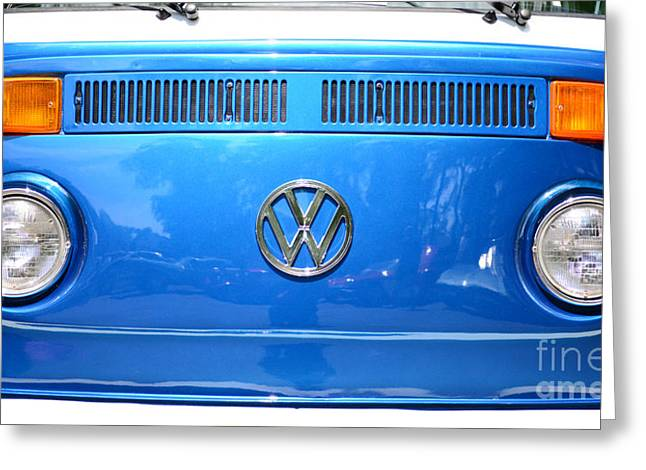 Hippie Volkswagon Greeting Cards - Volkswagon Van Greeting Card by Paul Ward