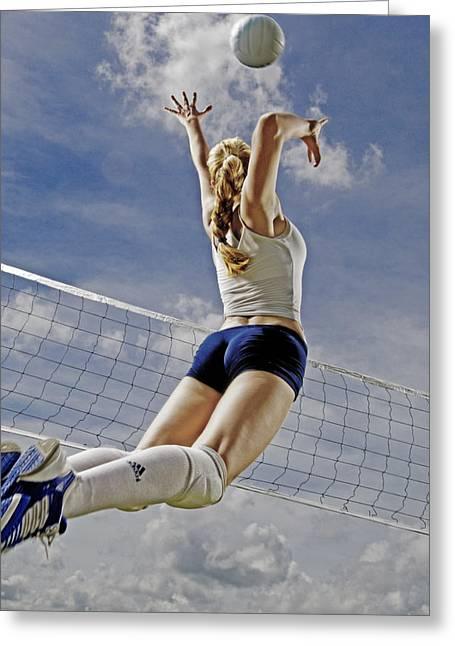 Volleyball Greeting Cards - Volleyball Greeting Card by Steve Williams