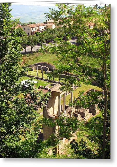 Carla Parris Greeting Cards - Volterras Roman Ruins Greeting Card by Carla Parris