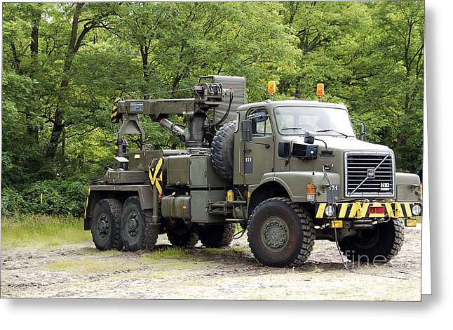 Volvo N10 Truck Crane Of The Belgian Greeting Card by Luc De Jaeger