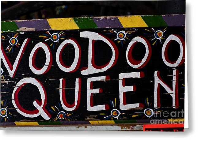Leslie Leda Greeting Cards - Voodoo Queen Greeting Card by Leslie Leda
