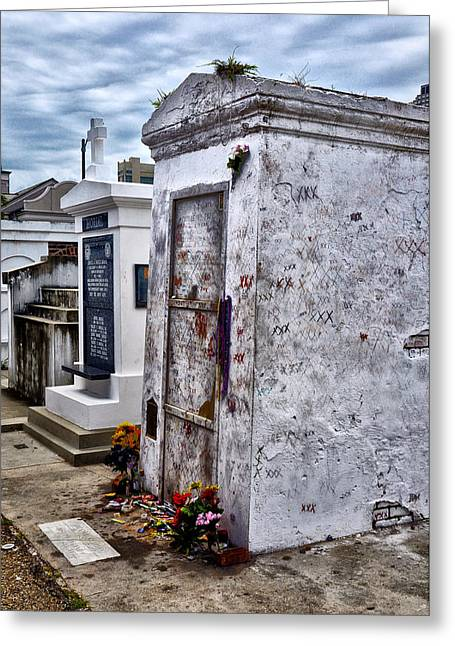 Voodoo Greeting Cards - Voodoo Queen Marie Laveaus Tomb Greeting Card by Bill Cannon