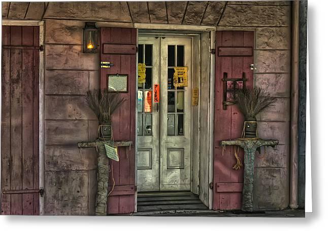 Voodoo Shop Greeting Cards - Voodoo Shop Greeting Card by Merja Waters