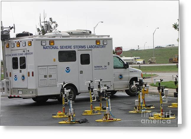 Command Center Greeting Cards - Vortex2 Field Command Vehicle Greeting Card by Science Source