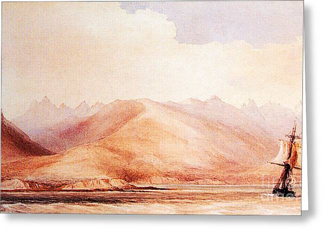 Beagle Artwork Greeting Cards - Voyage Of Hms Beagle Greeting Card by Science Source
