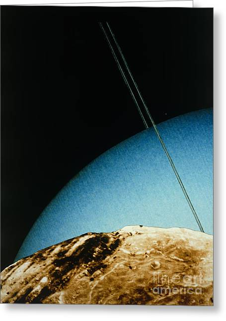Miranda Greeting Cards - Voyager 2 Montage Of Miranda Greeting Card by NASA / Science Source