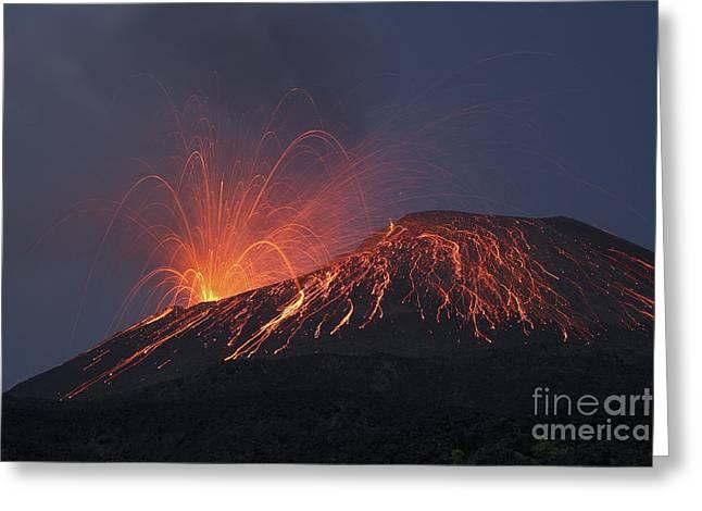 Vulcanian Eruption Of Anak Krakatau Greeting Card by Richard Roscoe