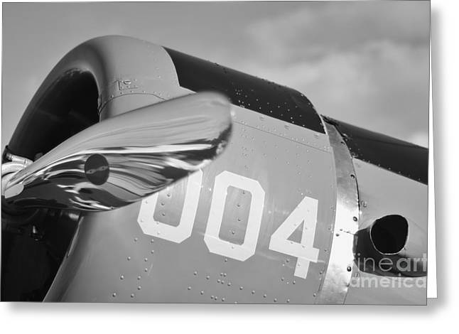 2011 Vna Stuart Airshow Greeting Cards - Vultee BT-13 Valiant in BW Greeting Card by Lynda Dawson-Youngclaus