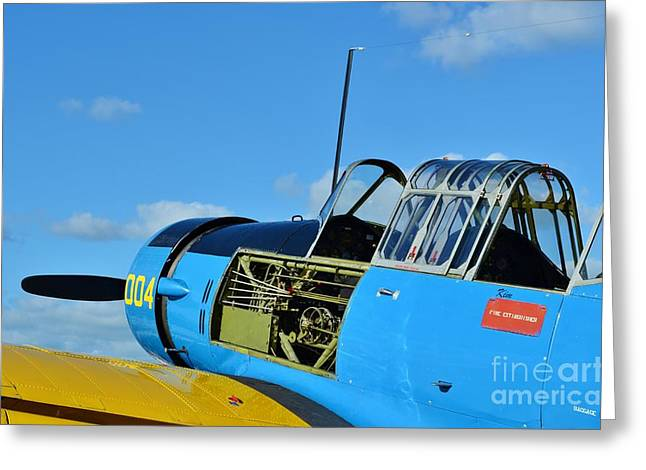 2011 Vna Stuart Airshow Greeting Cards - Vultee BT-13 Valiant  Greeting Card by Lynda Dawson-Youngclaus
