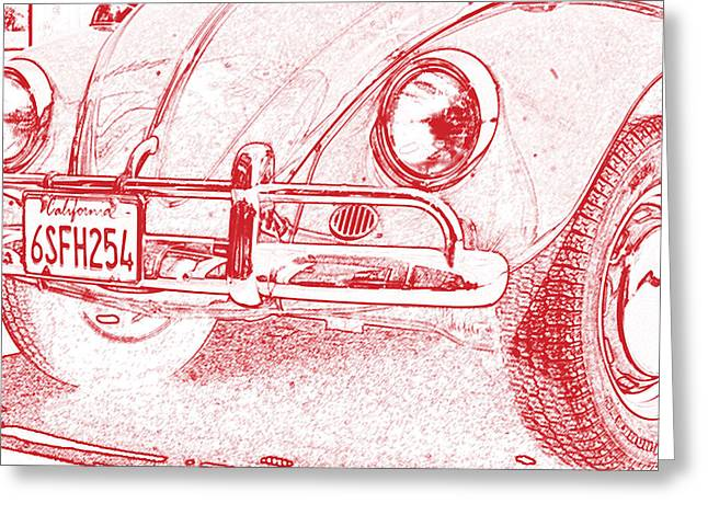 Love Bug Greeting Cards - VW Beetle Greeting Card by Nomad Art And  Design