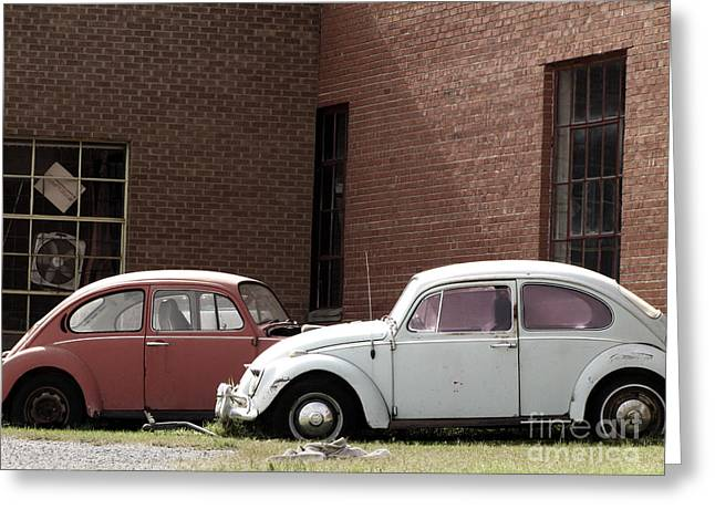 Transporation Greeting Cards - VW Final Resting Place Greeting Card by Ann Powell