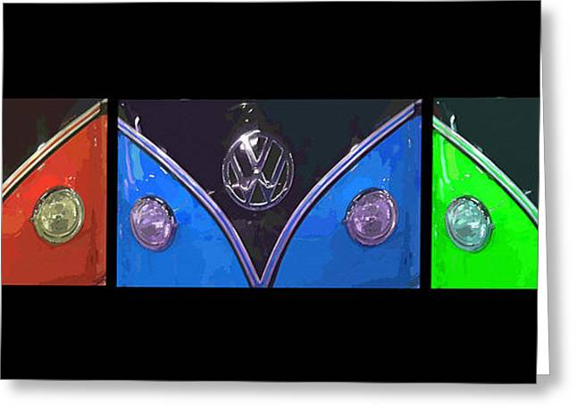VW Triptych 2 Greeting Card by Cheryl Young