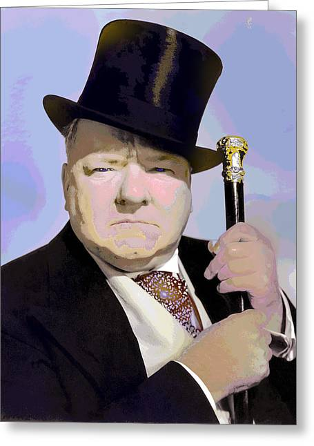Characterization Greeting Cards - W C Fields Greeting Card by Charles Shoup