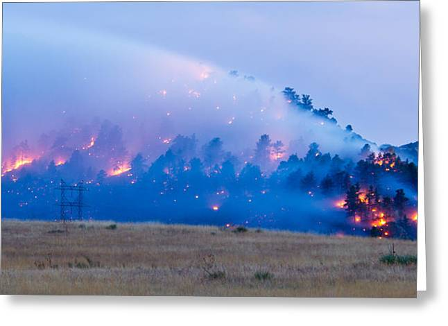 Colorado Wildfires Greeting Cards - Wadsworth Ridge Wildfire Greeting Card by Adam Pender