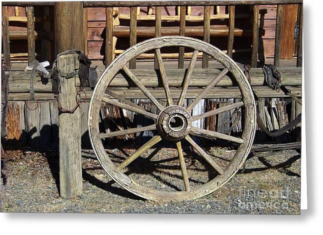 Whee Greeting Cards - Wagon Wheel Greeting Card by Charles Robinson