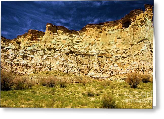 Wahweap Greeting Cards - Wahweap Cliff Greeting Card by Adam Jewell
