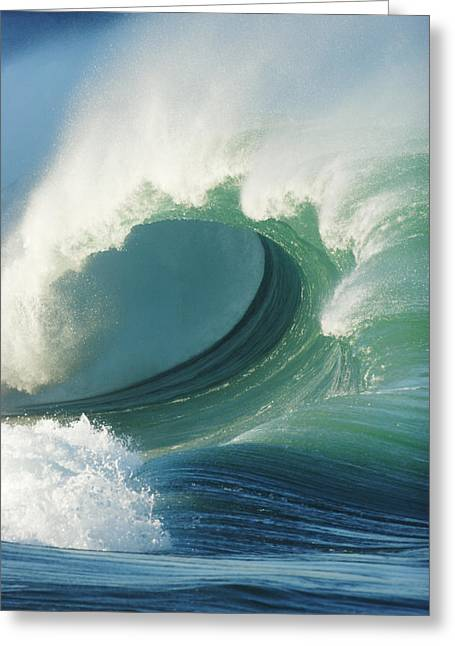 Vince Greeting Cards - Waimea Bay Shorebreak Greeting Card by Vince Cavataio - Printscapes
