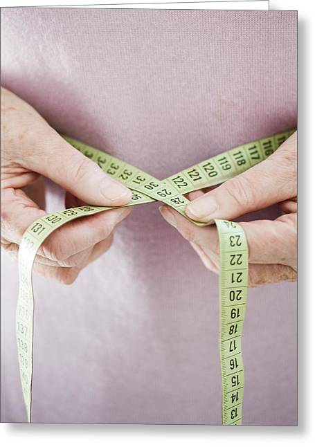 Circumference Greeting Cards - Waist Size Measurement Greeting Card by Cristina Pedrazzini