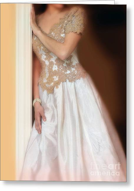 Ball Gown Greeting Cards - Waiting by the Door Greeting Card by Jill Battaglia