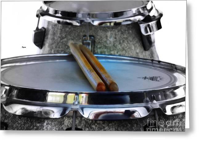 Drum Sticks Greeting Cards - Waiting for Hands Greeting Card by Steven  Digman