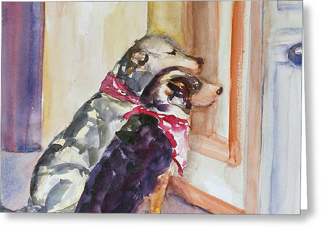 Waiting for Mary Greeting Card by Nancy Brennand