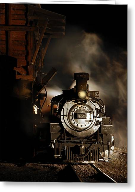 Narrow Gauge Steam Engine Greeting Cards - Waiting for More Coal Greeting Card by Ken Smith