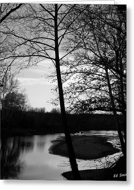 Indiana Rivers Greeting Cards - Waiting For Summer Greeting Card by Ed Smith