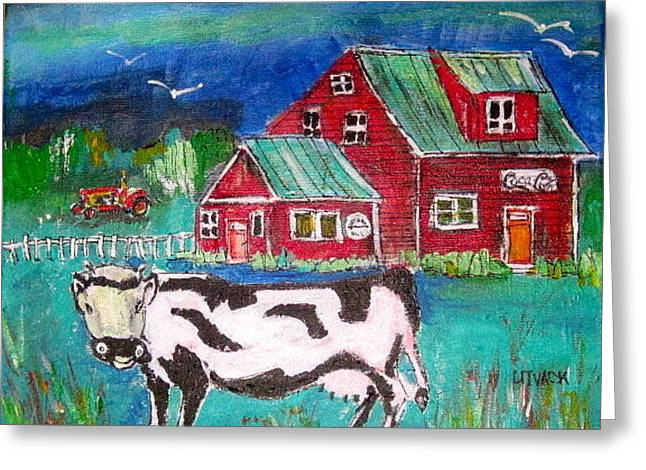 Michael Litvack Greeting Cards - Waiting for the Farmer Greeting Card by Michael Litvack