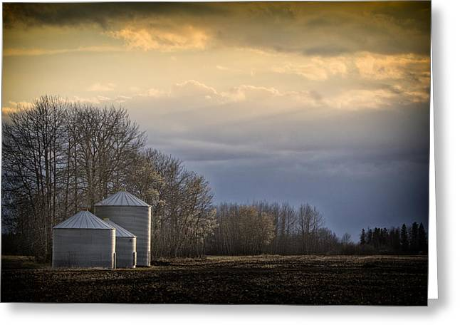 Prairie Style Greeting Cards - Waiting for the night to come.... Greeting Card by Russell Styles