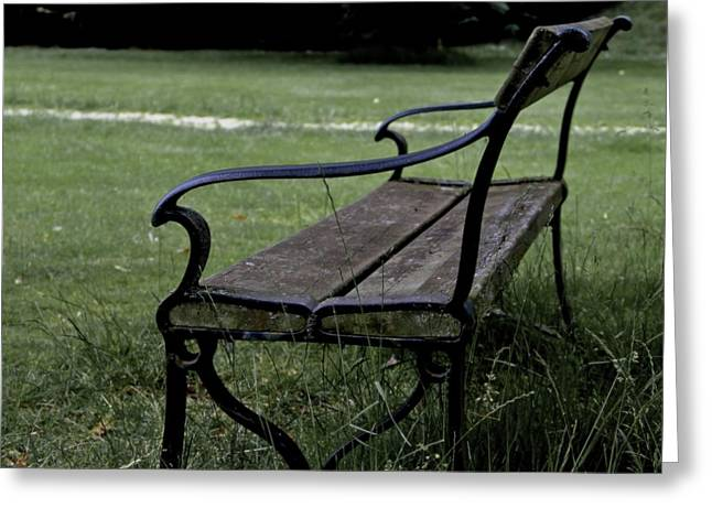 Park Benches Greeting Cards - Waiting For The Ones Greeting Card by Odd Jeppesen