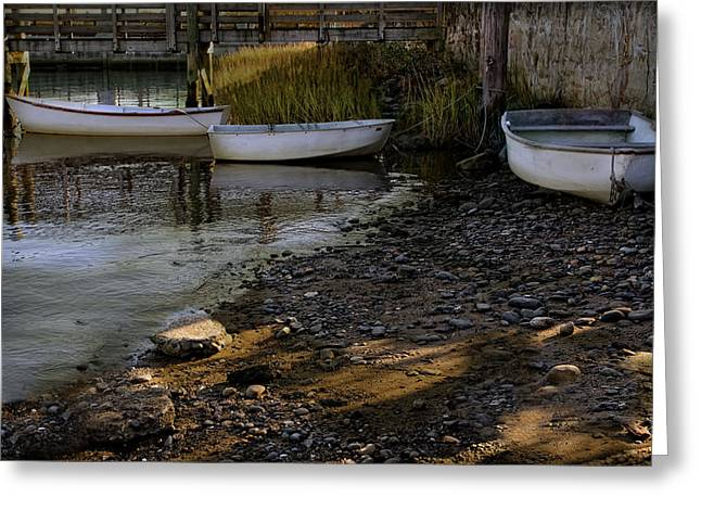 Row Boat Greeting Cards - Waiting for the Tide to Come In Greeting Card by Robin-lee Vieira