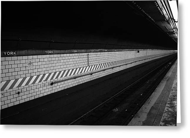 Brooklyn Greeting Cards - Waiting for the Train - New York City Greeting Card by Vivienne Gucwa