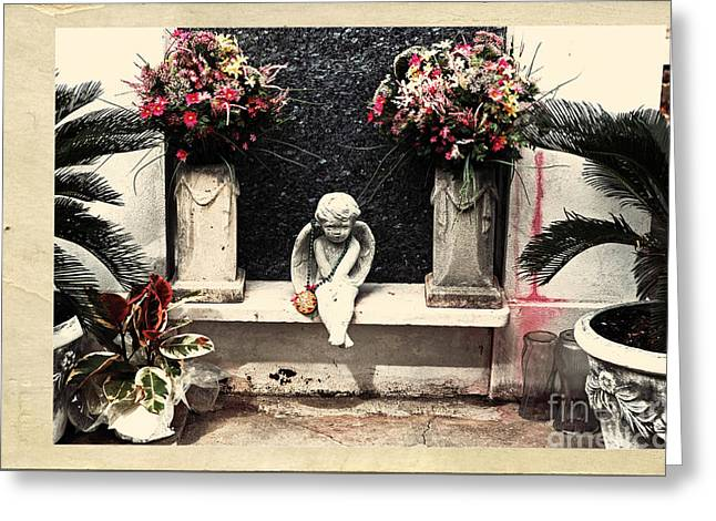 Headstones Greeting Cards - Waiting for You Greeting Card by John Rizzuto