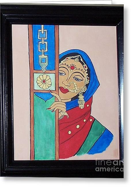 Jewelries Acrylic Prints Greeting Cards - Waiting II Greeting Card by Anu Darbha