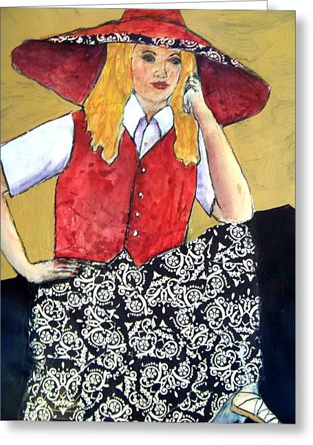Waiting Impatiently Greeting Card by Vickie Voelz