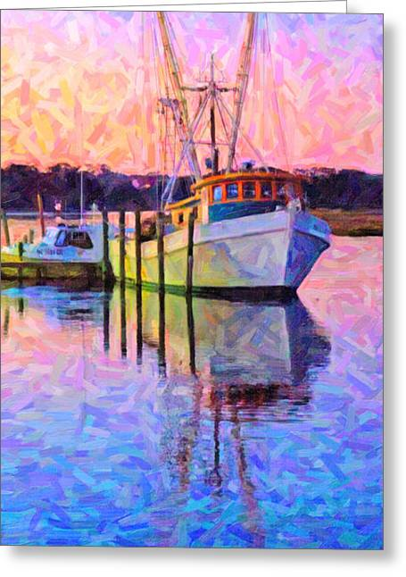 Island Greeting Cards - Waiting in the Harbor Greeting Card by Betsy C  Knapp