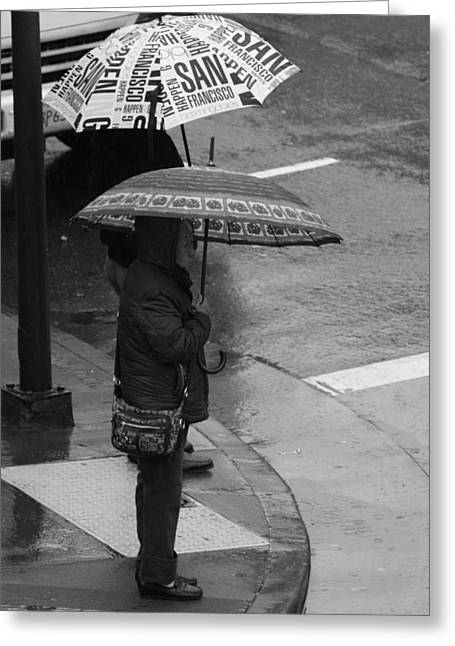 American Food Greeting Cards - Waiting In The Rain Greeting Card by Aidan Moran