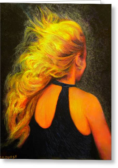 Michael Durst Greeting Cards - Waiting in the Wind Greeting Card by Michael Durst