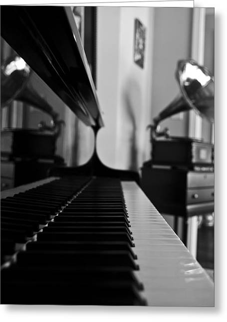 Piano Greeting Cards - Waiting Greeting Card by Jonathan Ellis Keys