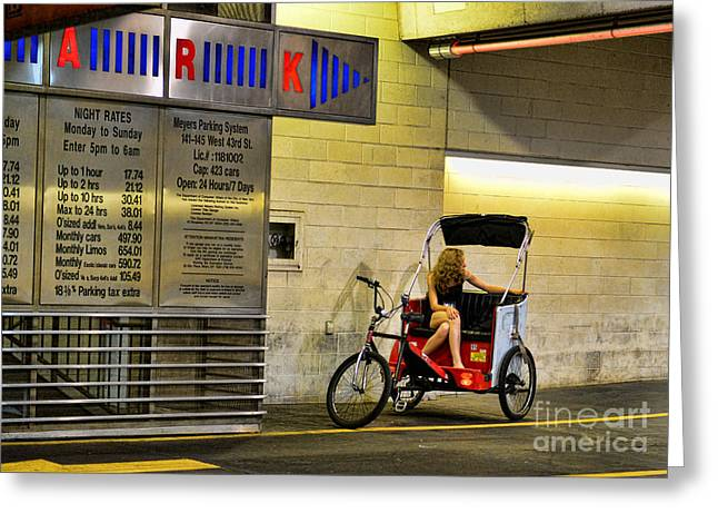 Midtown Greeting Cards - Waiting on a ride Greeting Card by Paul Ward