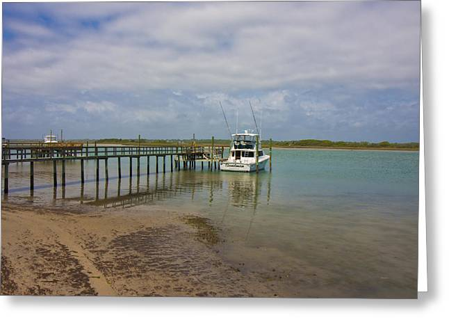 Topsail Island Greeting Cards - Waiting on the Captain Greeting Card by Betsy A  Cutler