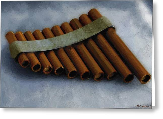 Pan Pipes Greeting Cards - Waiting To Be Played Greeting Card by RC DeWinter