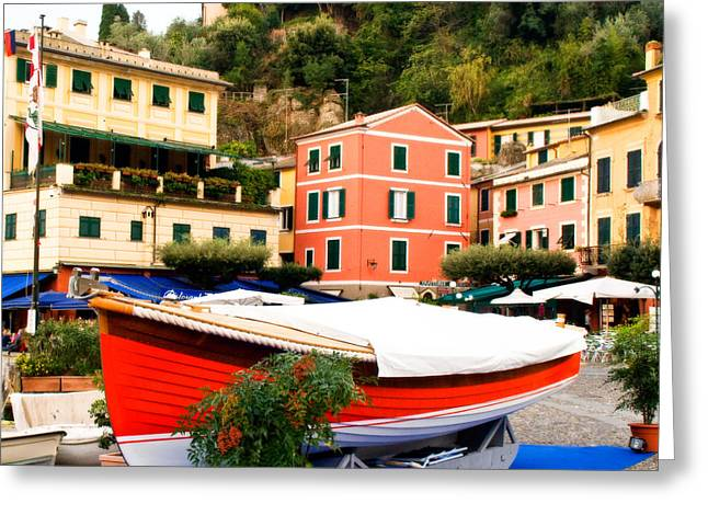 Portofino Italy Greeting Cards - Waiting to Launch Greeting Card by Carl Jackson
