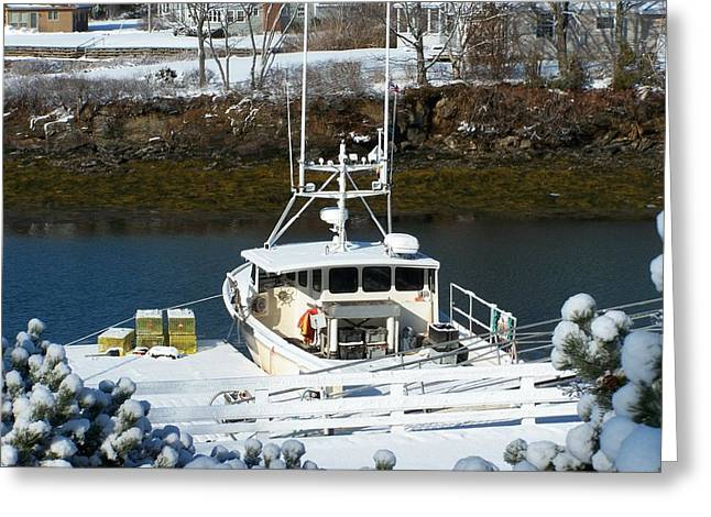 Lobsterboat Greeting Cards - Waiting waiting waiting Greeting Card by Clifford Bailey