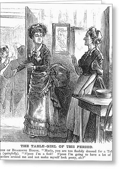 Waitress Photographs Greeting Cards - Waitresses, 1873 Greeting Card by Granger