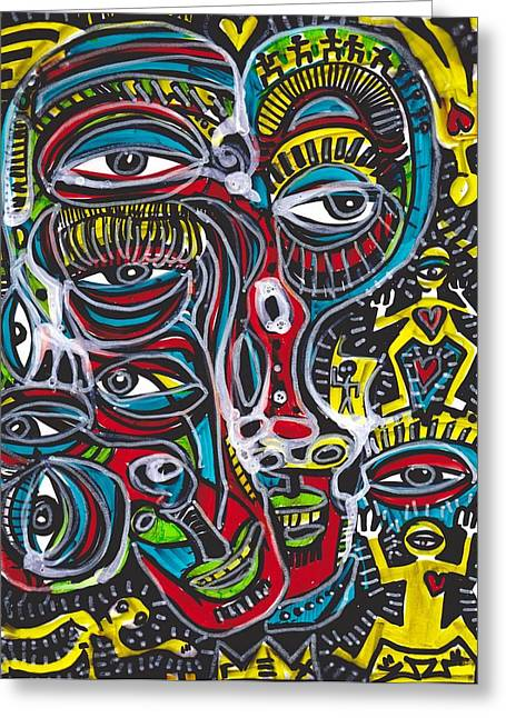 Neo-expressionism Greeting Cards - Waking From A Dream Greeting Card by Robert Wolverton Jr