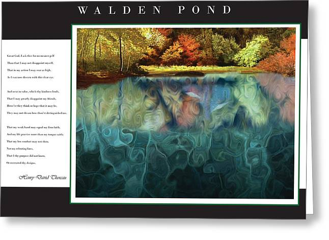 Walden Pond Greeting Card by David Glotfelty