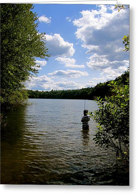 Walden Pond Greeting Cards - Walden Pond  Greeting Card by Rae Breaux