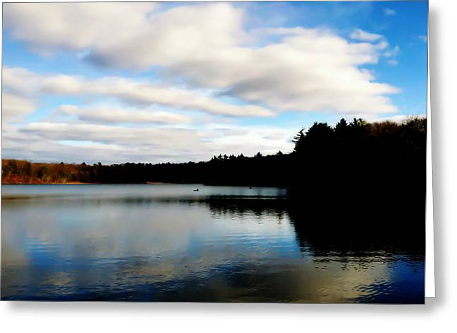 Walden Pond Greeting Cards - Walden Pond Reverie  Greeting Card by Frank Winters